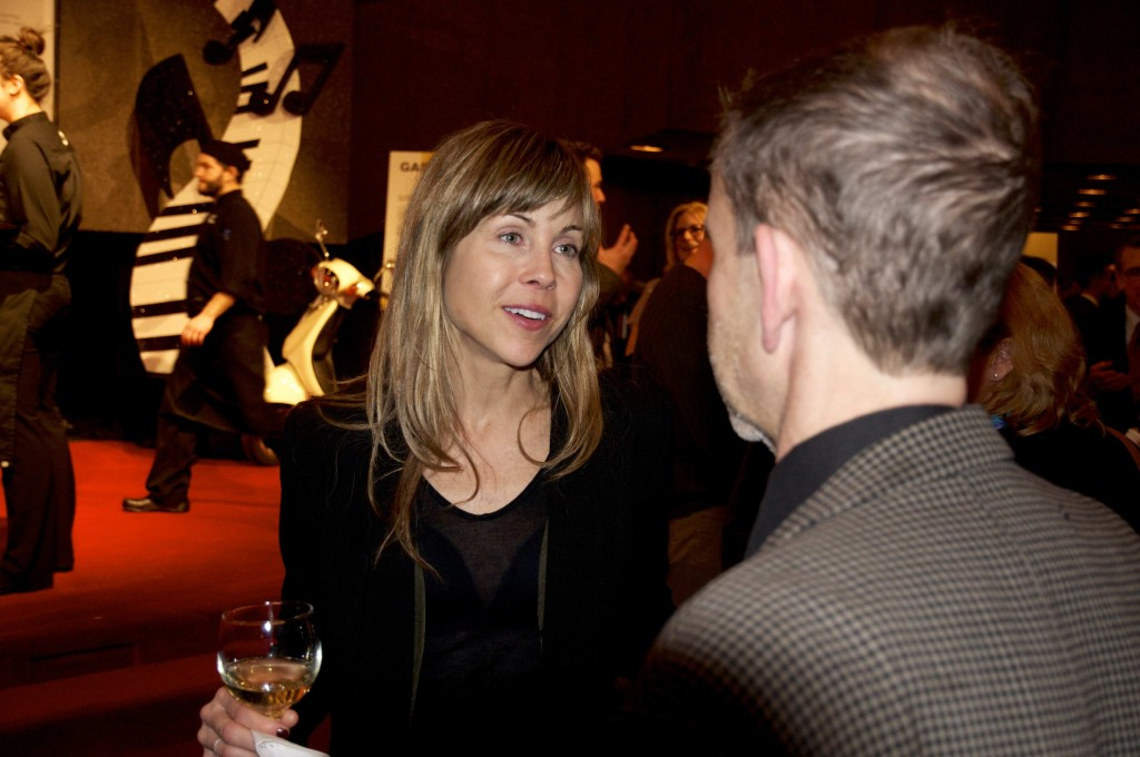 "Director of ""Gabrielle"", Louise Archambault, speaks to an attendee about her film."
