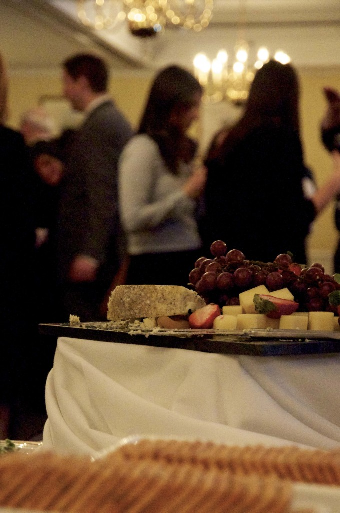 The PDAC reception welcomed guests with food and drink to set the overall mood.