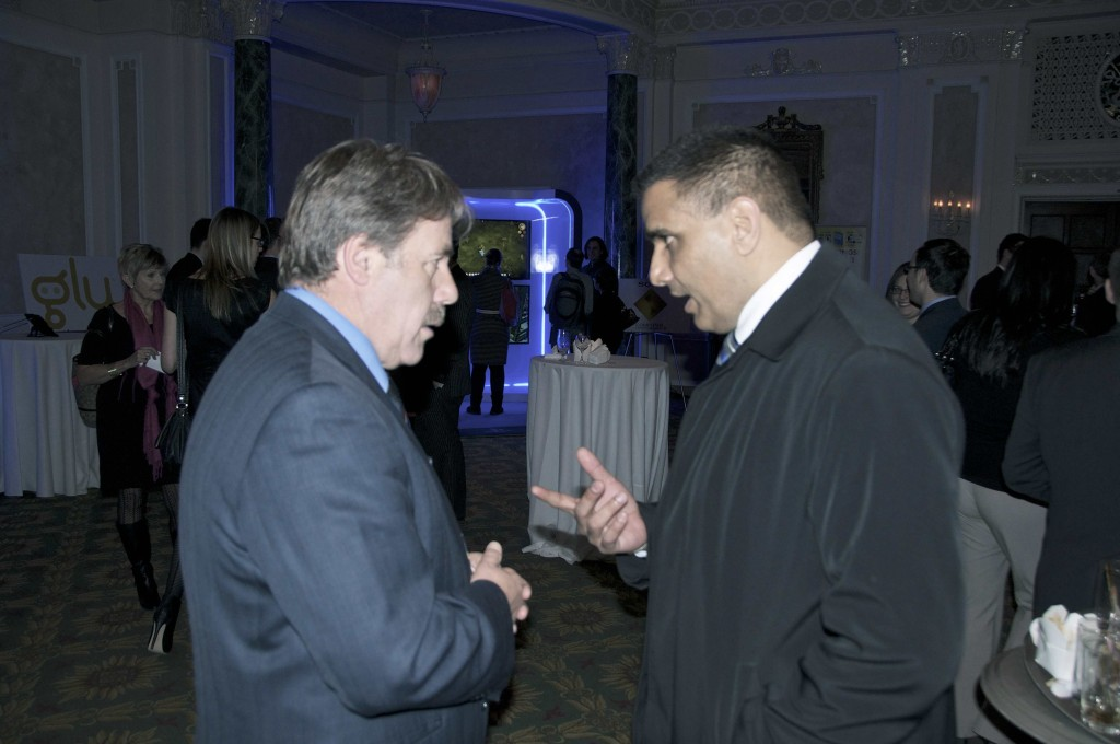 NDP veterans affairs critic Peter Stoffer (Sackville-Eastern Shore, N.S.) speaks with Parliamentary Secretary to the Minister of Veterans Affairs Parm Gill (Brampton-Springdale, Ont.)