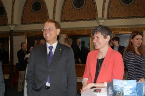 NDP MPs Murray Rankin (left) and Megan Leslie