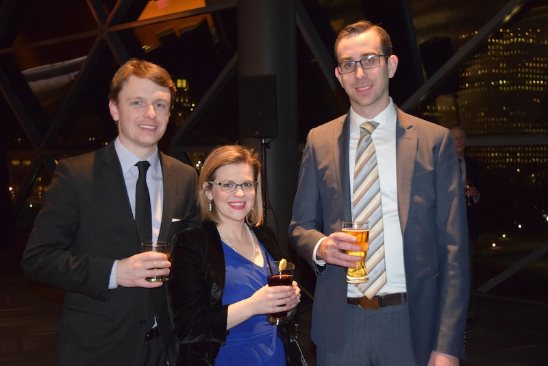 National Public Relations consultant Joseph Finkle (left), associate Stephanie Mitton (centre), and consultant Mathew Klie-Cribb (right)