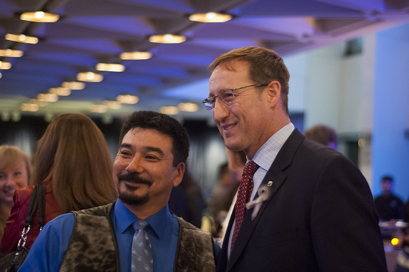 Justice Minister Peter MacKay was spotted chatting briefly with ITK president Terry Audla at the event. Alyssa O'Dell photo.